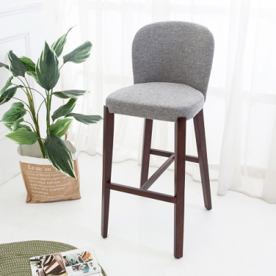 Boden-泰森實木吧台椅/吧檯椅/高腳椅(高)(二入組合)-45x60x101cm