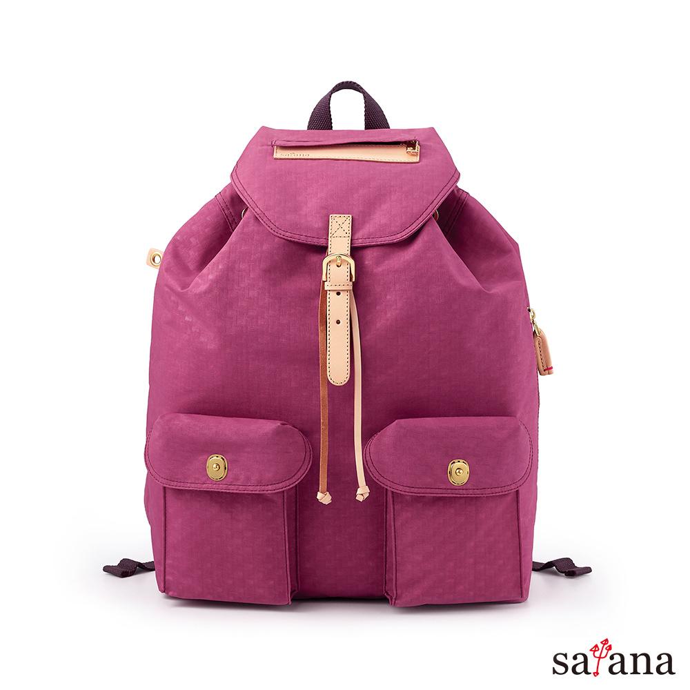 satana - Soldier休閒束口後背包 – 霧紫紅