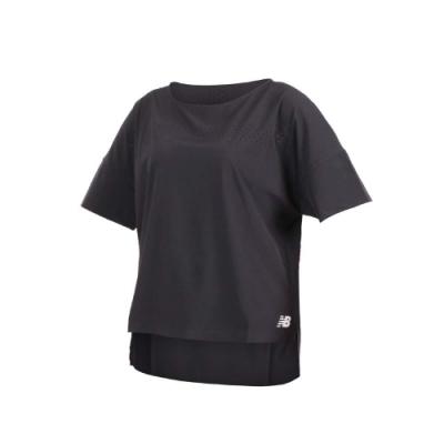 NEW BALANCE 女短袖T恤-NB 短T 慢跑 路跑 黑