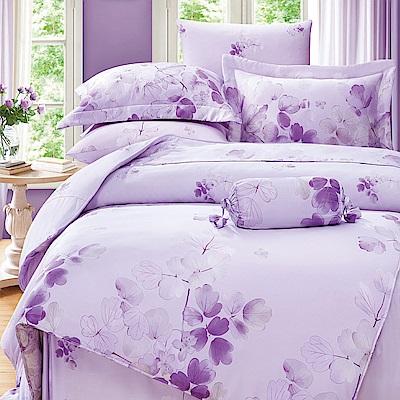 DESMOND岱思夢 雙人 100%天絲兩用被床包組 卉影-紫
