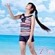Dione 狄歐妮 泳裝 女童二截平口褲學士風(附帽) product thumbnail 1