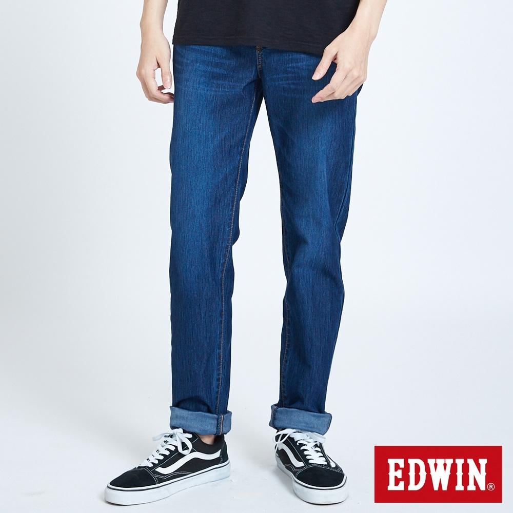 EDWIN JERSEYS 迦績 車織帶AB牛仔褲-男-酵洗藍