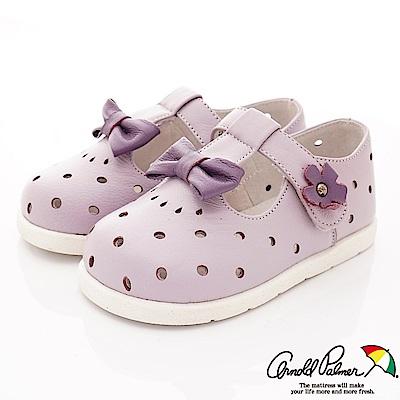雨傘牌 小羊皮洞洞娃娃鞋款 EI75122紫(小童段)
