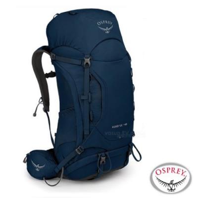 OSPREY 新款 Kestrel 48L 輕量健行登山背包_湖泊藍 R