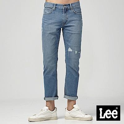 Lee 中腰標準直筒牛仔褲-中藍