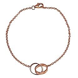 Cartier 經典LOVE系列橢圓雙鎖環手環(玫瑰金)