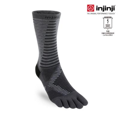 【INJINJI】RUN 輕量吸排五趾中筒襪[石灰] 五指襪 短襪 運動襪 五趾襪