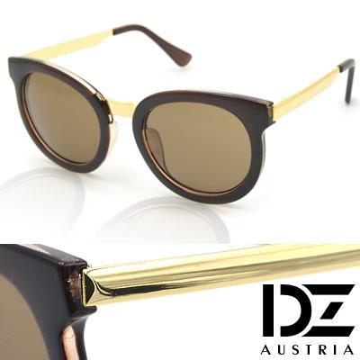 DZ 極簡美型 抗UV防曬太陽眼鏡墨鏡(深咖系)