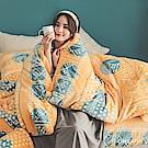 PRIMARIO 台灣製 雙人-防靜電極緻保暖法蘭絨被套/床包四件組 列蒂西雅
