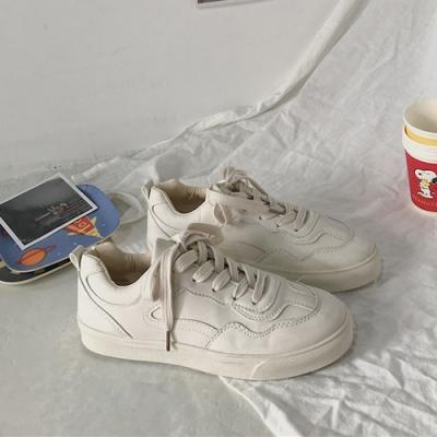 韓國KW美鞋館 明星同款簡約素色平底鞋-杏