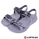 【AIRWALK】減壓緩震輕量休閒涼鞋-灰