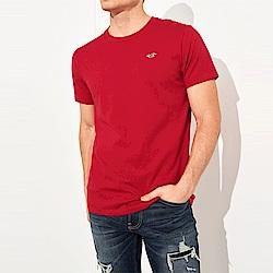 海鷗 Hollister HCO 經典刺繡標誌素面短袖T恤-紅色