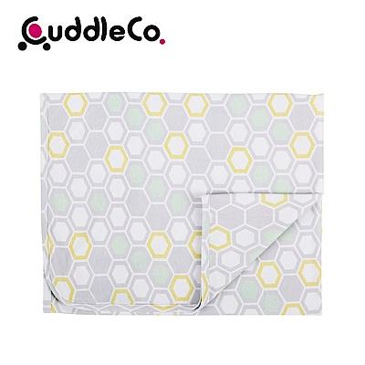 英國CuddleCo 竹纖維寶寶四季毯90x70cm-灰格蜜蜂