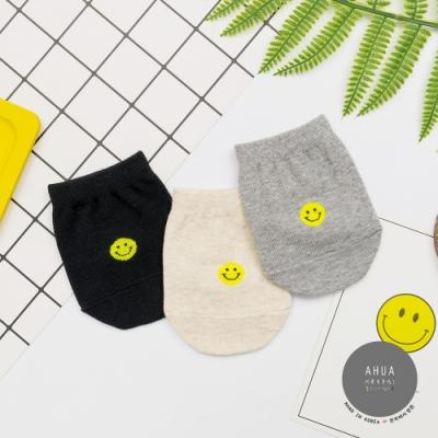 阿華有事嗎 韓國襪子 純色笑臉半襪  韓妞必備長襪 正韓百搭純棉襪