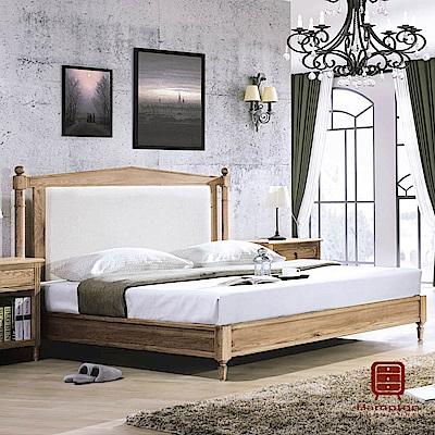 漢妮Hampton伯明罕系列白橡全實木5尺雙人床架-160x203x125cm