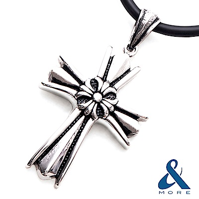 &MORE愛迪莫-MEGA POWER Ⅱ鍺鈦項鍊 神聖十字