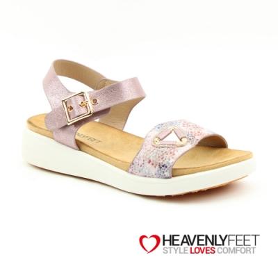 【HEAVENLY FEET】英國舒適品牌花卉波點印刷休閒涼鞋-ETTA