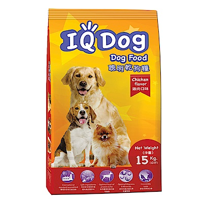 IQ Dog 聰明乾狗糧 - 雞肉口味成犬配方 15+1kg(加量包)