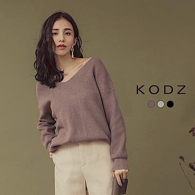 東京著衣-KODZ IG爆款時髦美背大扭結多色毛衣-S.M.L(共三色)