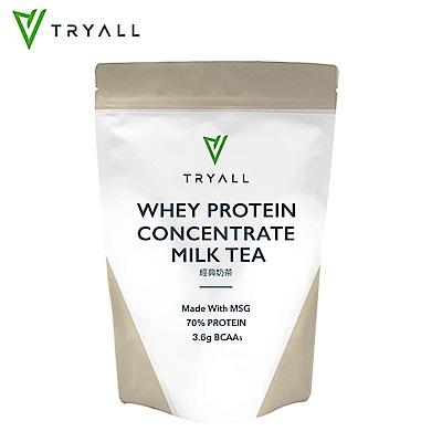 [台灣 Tryall] 濃縮乳清蛋白粉-經典奶茶 (500g/袋)