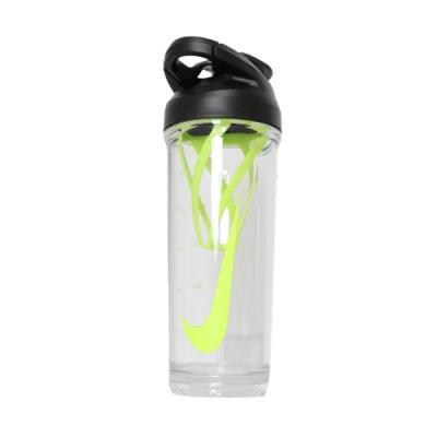 Nike 水壺 Shaker Bottle 運動休閒 健身 重訓 雪克杯 泡乳清 緊密防漏 螢光綠 黑 N100010693624