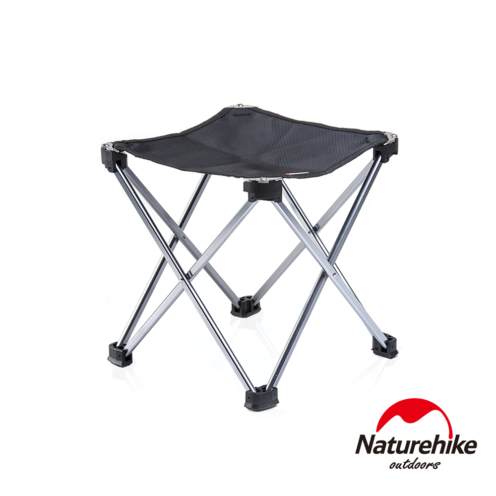 Naturehike 便攜式鋁合金戶外折疊椅 釣魚椅 中號 黑色-急