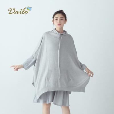 【Dailo】早春抽繩連袖休閒-針織衫(三色)