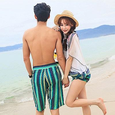 Biki比基尼妮泳衣   綠色好美學情侶泳衣男泳褲(男生購買區)