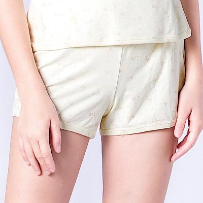 思薇爾 小綿羊系列M-L印花居家短褲(淺黃色)
