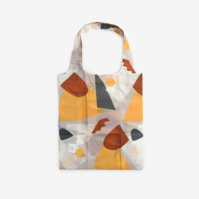 Dailylike 摺疊購物袋單肩包L-13幾何藝術