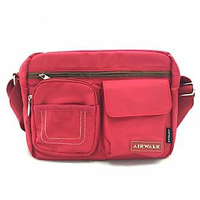【AIRWALK】極簡輕便側背包-紅