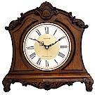 RHYTHM日本麗聲 復古實木雕刻整點報時座鐘/35cm