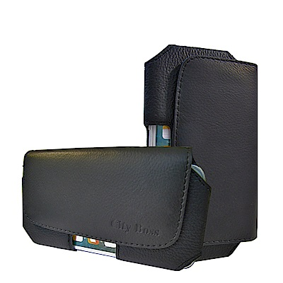 風尚簡約 iPhone/HTC/ASUS/三星/SONY 頭層牛皮 6吋磁扣腰包皮套