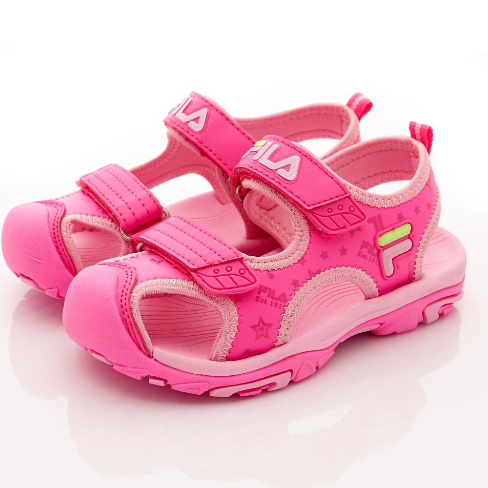 FILA頂級童鞋 輕量護趾涼鞋款 FO32R-256桃粉(中小童段)
