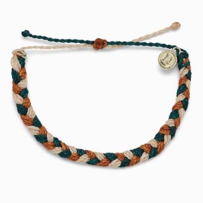 Pura Vida 美國品牌 PEAK 壯麗山峰粗線編織可調式衝浪手環