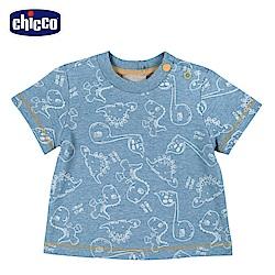 chicco-小恐龍-印花短袖上衣
