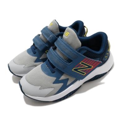New Balance 慢跑鞋 Rave Run 寬楦 運動 童鞋 紐巴倫 輕便 舒適 魔鬼氈 中童 灰 藍 PTRAVBG1W