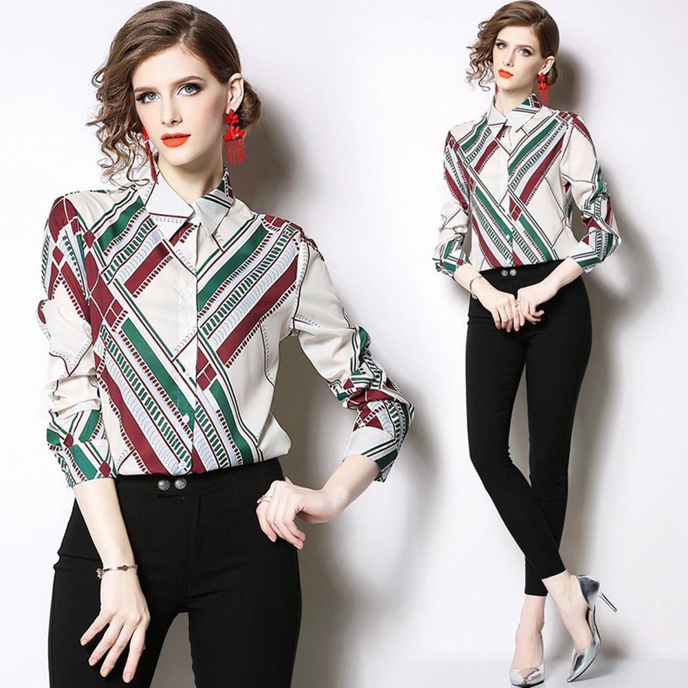 清爽簡約條紋氣質襯衫M-2XL-M2M