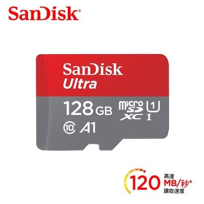 SanDisk Ultra microSDXC UHS-I (A1)128GB記憶卡(公司貨)120MB/s