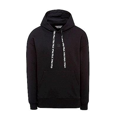 FILA #漢城企劃 長袖連帽T恤-黑 1TET-1405-BK