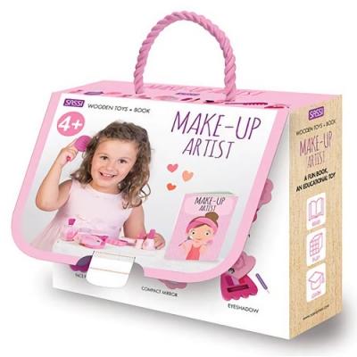 Wooden Toys+Book:Make-Up Artist 公主化妝寶盒