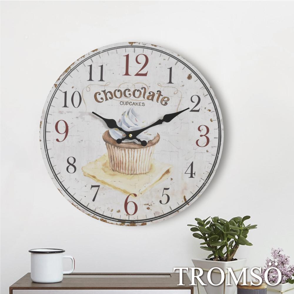 TROMSO無框畫時鐘-杯子蛋糕(圓形)
