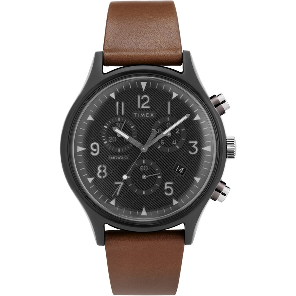 TIMEX 天美時 MK1 Chrono系列 經典復古手錶-棕x黑/42mm