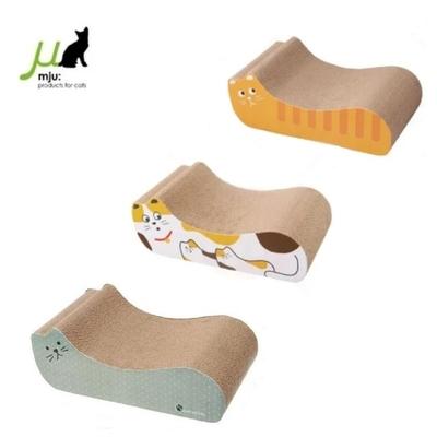 日本Gari Gari Wall(MJU)貓造型貓抓板-3款 S號 (不挑色隨機出貨) (購買第二件贈送寵鮮食零食1包)