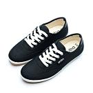 艾樂跑Arriba女款 帆布休閒鞋 便鞋-白/黑 (AB-8086)