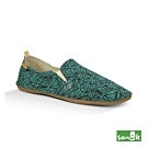 SANUK 女款US7 幾何印花休閒鞋(綠色)