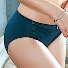 推EASY SHOP-暖陽橙花 中腰三角褲(藍綠色)