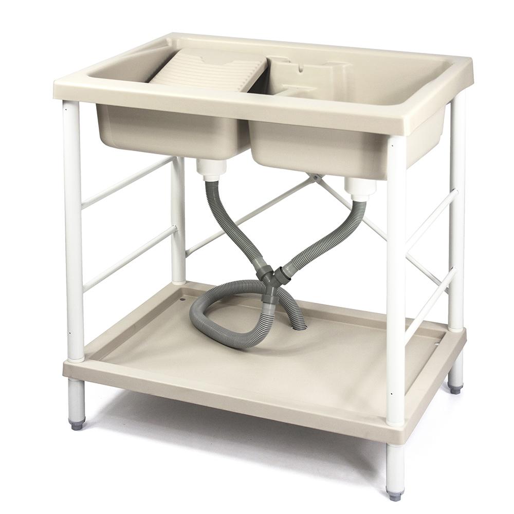 Aaronation 新型雙槽塑鋼洗衣槽 GU-A1001