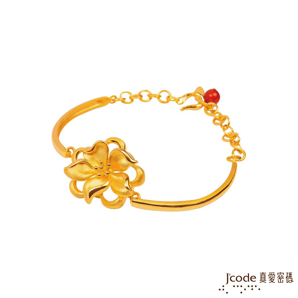(無卡分期12期)J'code真愛密碼 慈愛圍繞黃金手鍊