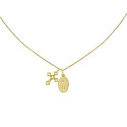 five and two 美國品牌 Celeste 十字架鑲嵌鋯石 金色項鍊